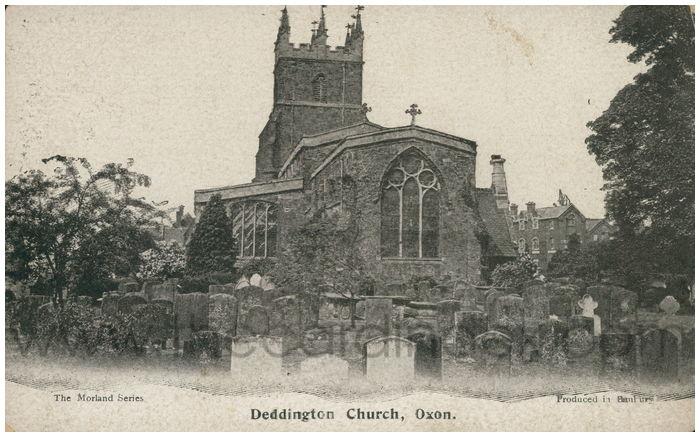 Postcard front: Deddington Church, Oxon.
