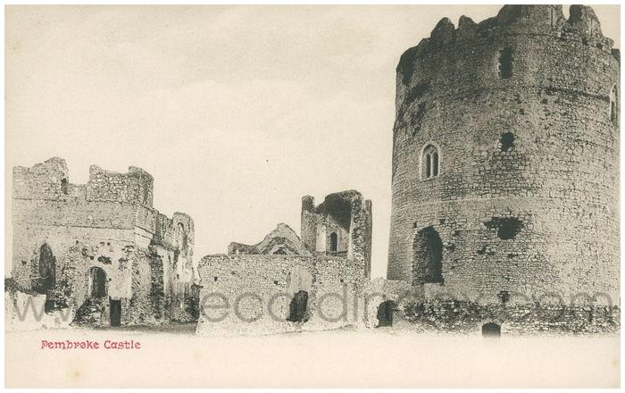 Postcard front: Pembroke Castle.