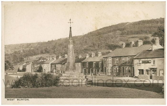 Postcard front: West Burton