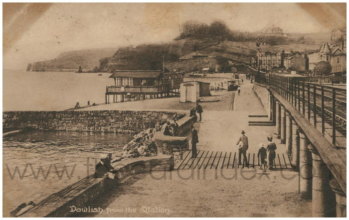 Postcard front: Dawlish from the Station