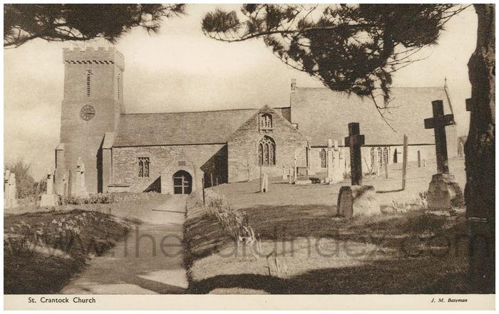 Postcard front: St. Crantock Church
