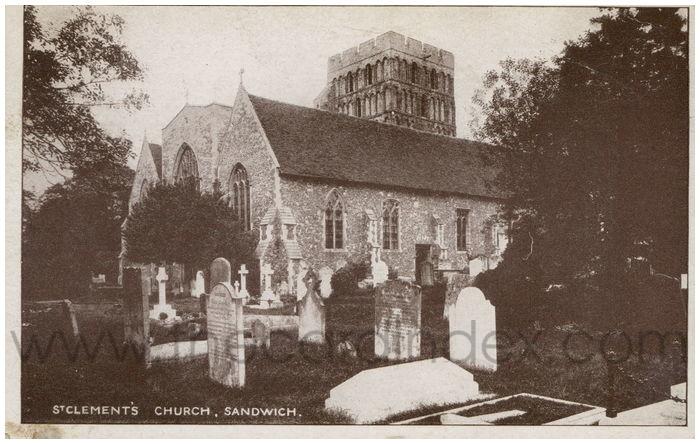 Postcard front: St. Clement's Church. Sandwich.