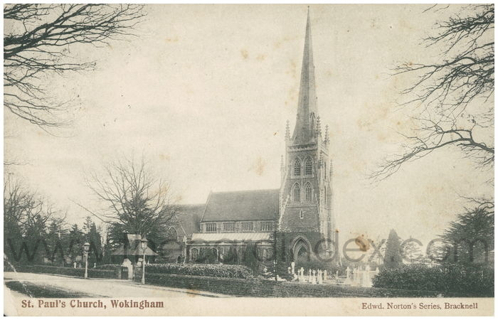 Postcard front: St. Paul's Church, Wokingham