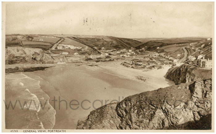 Postcard front: General View, Portreath.