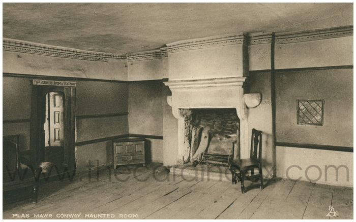 Postcard front: Plas Mawr Conway Haunted Room