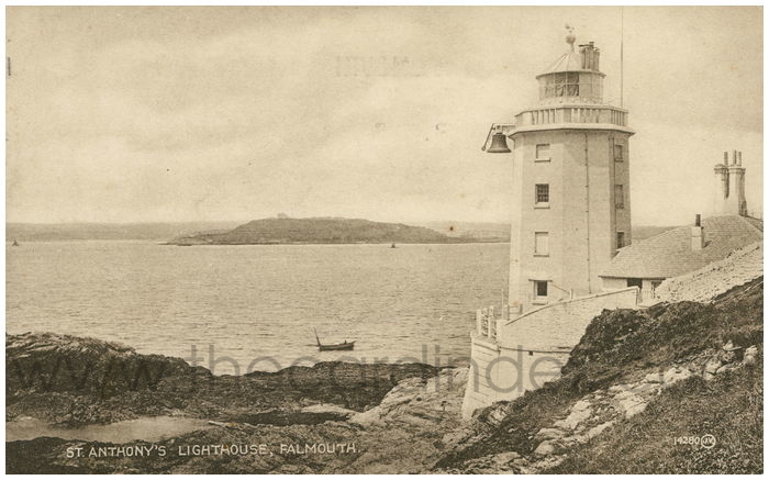 Postcard front: St. Anthony's Lighthouse, Falmouth.