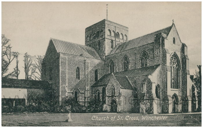 Postcard front: Church of St. Cross, Winchester