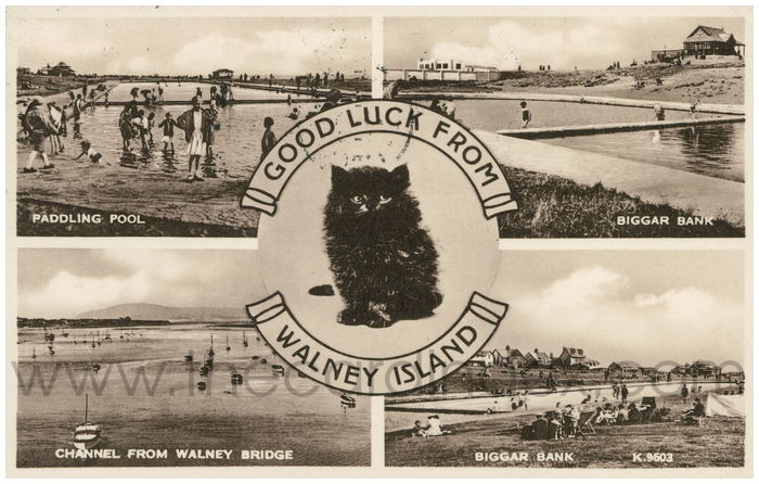 Postcard front: Good Luck from Walney Island