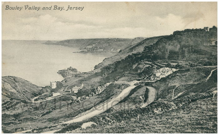 Postcard front: Bouley Valley and Bay, Jersey