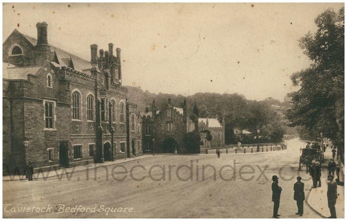 Postcard front: Tavistock, Bedford Square.