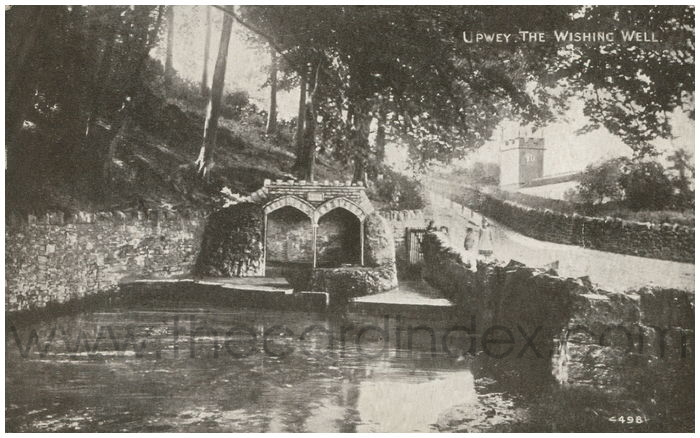 Postcard front: Upwey. The Wishing Well.