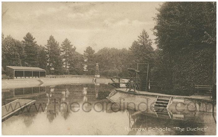 Postcard front: Harrow School,