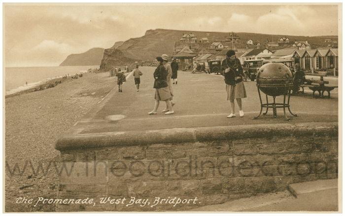 Postcard front: The Promenade, West Bay, Bridport.