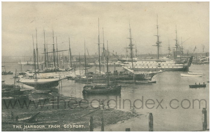Postcard front: The Harbour, From Gosport