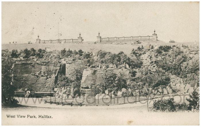 Postcard front: West View Park, Halifax.
