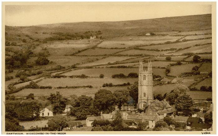 Postcard front: Dartmoor, Widecombe-in-the-Moor