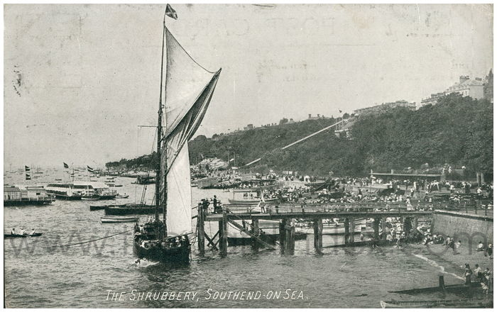 Postcard front: The Shrubbery, Southend-on-Sea.