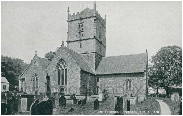 Postcard front: Church Stretton, The Church