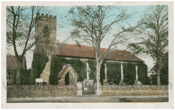 Postcard front: Sissinghurst Church