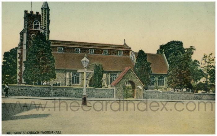 Postcard front: All Saints' Church, Wokingham.