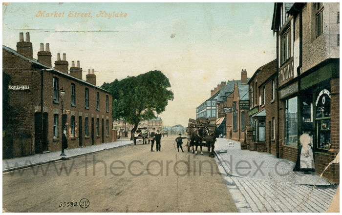 Postcard front: Market Street, Hoylake