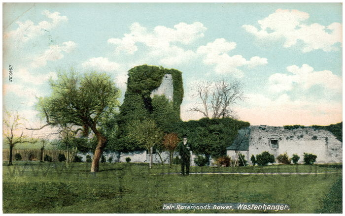 Postcard front: Fair Rosamond's Bower, Westenhanger.
