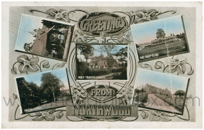 Postcard front: Greetings from Northwood