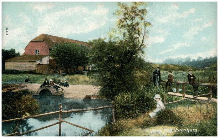 Postcard front: Hatch Mill, Farnham