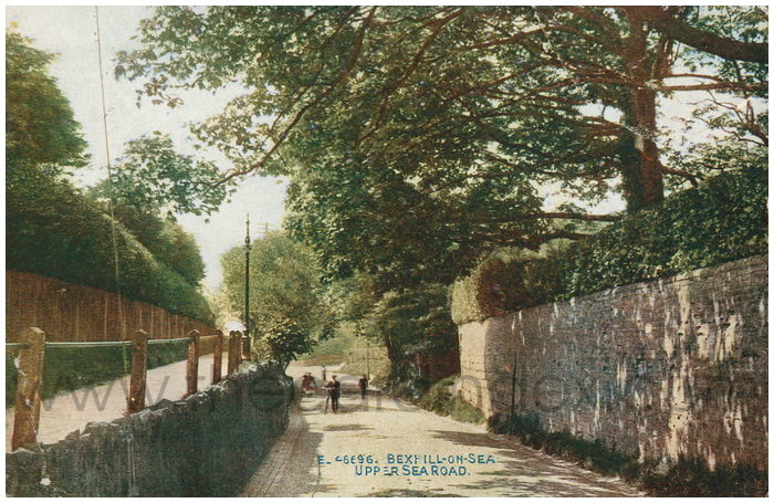Postcard front: Bexhill-on-Sea. Upper Sea Road.
