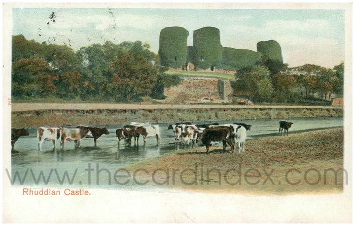 Postcard front: Rhuddlan Castle