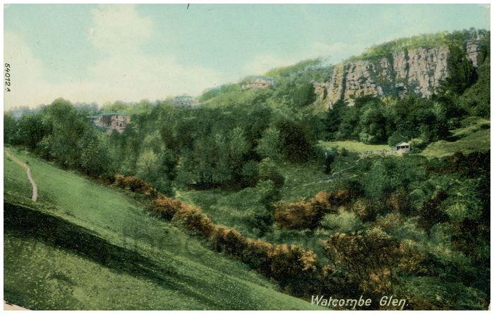 Postcard front: Watcombe Glen.