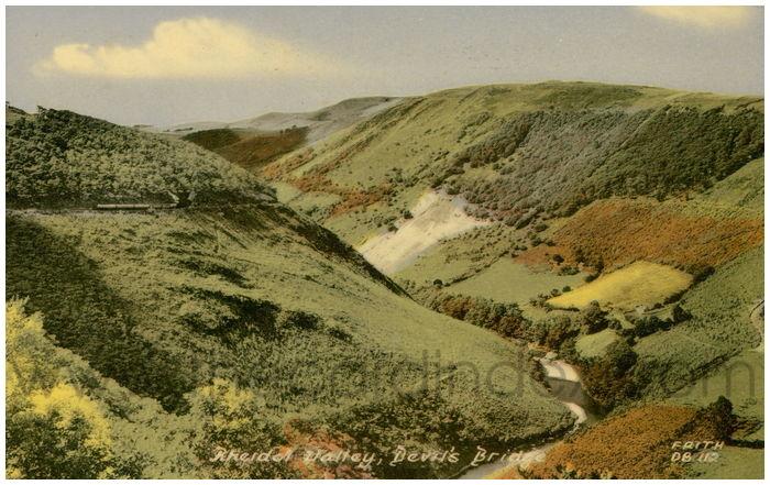 Postcard front: Rheidol Valley, Devil's Bridge.
