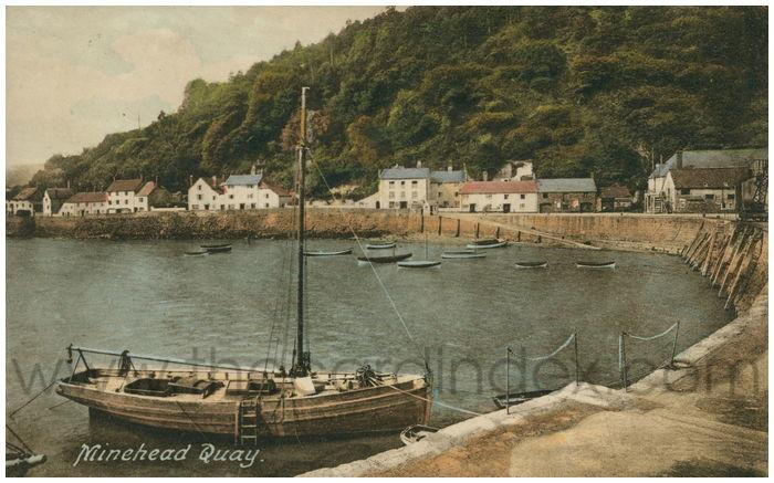 Postcard front: Minehead Quay.
