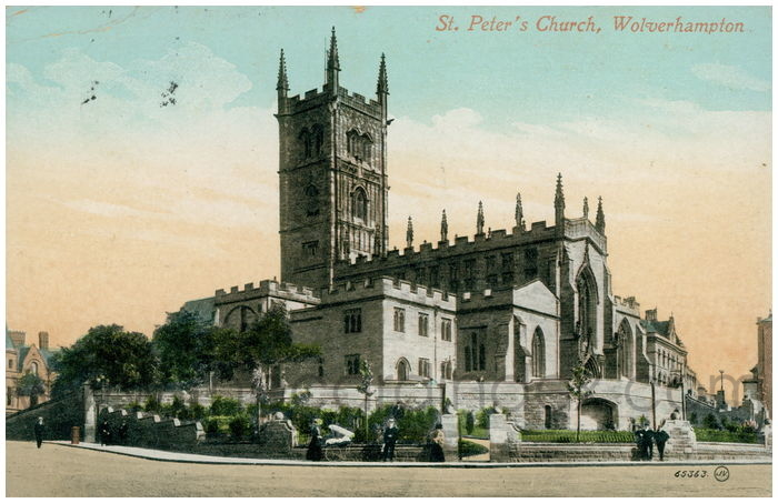 Postcard front: St. Peter's Church, Wolverhampton.