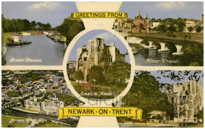 Postcard front: Newark-on-Trent