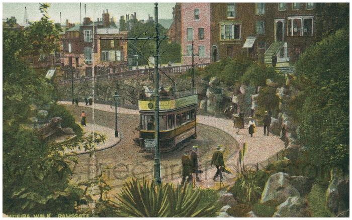 Postcard front: Maderia Walk, Ramsgate.