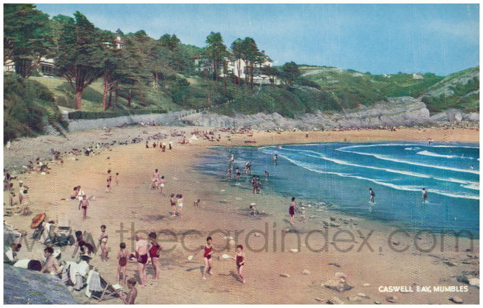 Postcard front: Caswell Bay, Mumbles