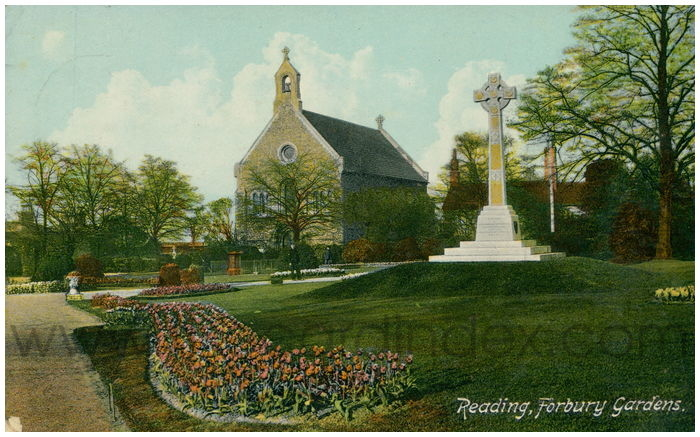 Postcard front: Reading, Forbury Gardens.