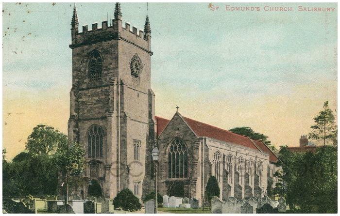 Postcard front: St. Edmund's Church, Salisbury