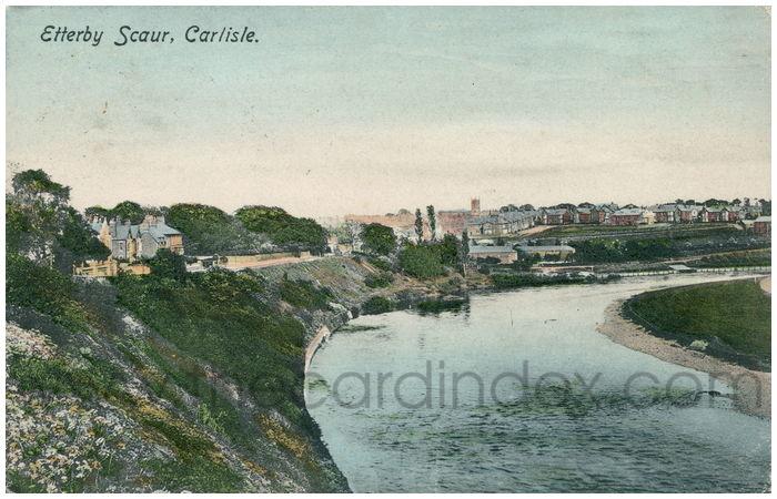 Postcard front: Etterby Scaur, Carlisle.