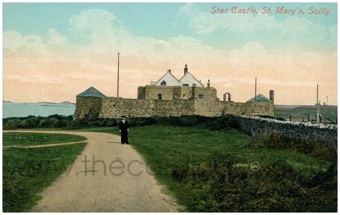 Postcard front: Star Castle, St. Mary's. Scilly