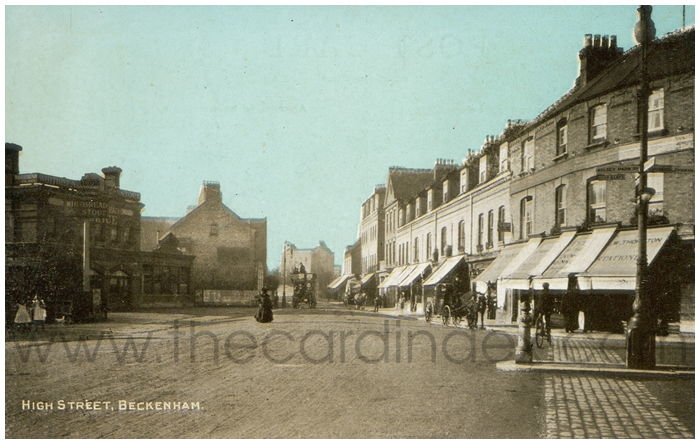 Postcard front: High Street, Beckenham