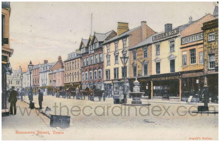 Postcard front: Boscawen Street, Truro
