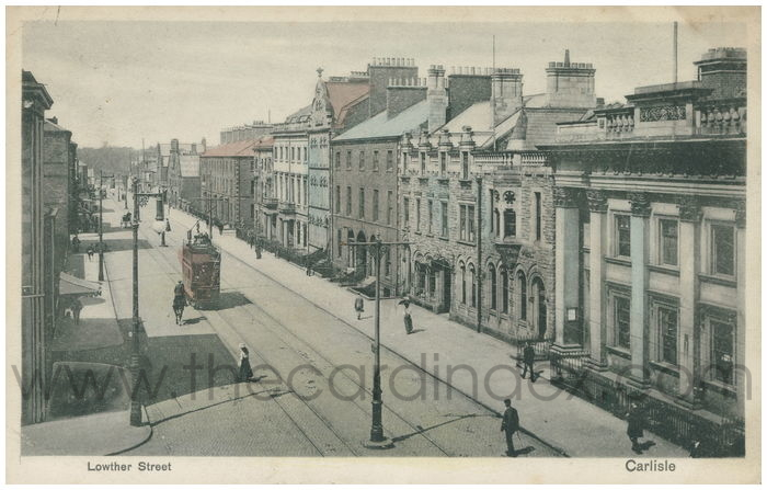 Postcard front: Lowther Street Carlisle