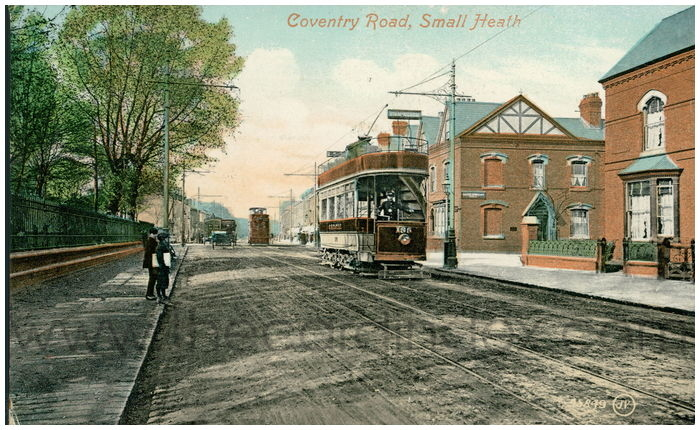 Postcard front: Coventry Road, Small Heath