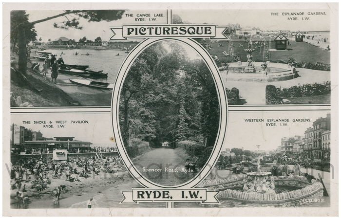 Postcard front: Picturesque Ryde, I.W.