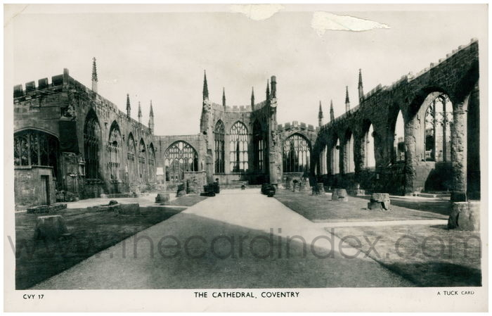 Postcard front: The Cathedral, Coventry