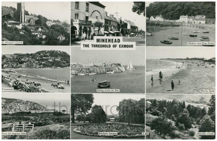 Postcard front: Minehead The Threshold of Exmoor