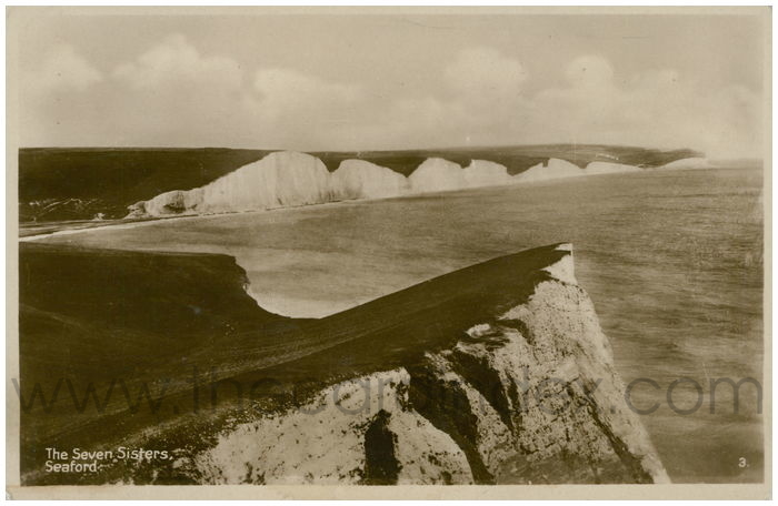 Postcard front: The Seven Sister Cliffs Seaford