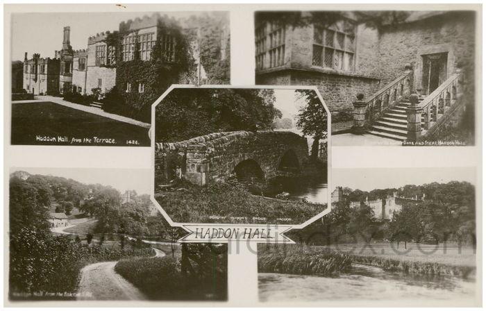 Postcard front: Haddon Hall